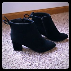 Black Booties w/Bow Tie Back Size 7.5